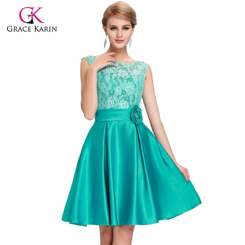 2017 Grace Karin Green Blue Mother of the Bride Dresses short knee ...