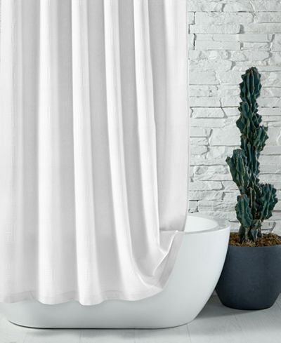 """hotel collection 72"""" x 84"""" extra long waffle-knit shower curtain"""