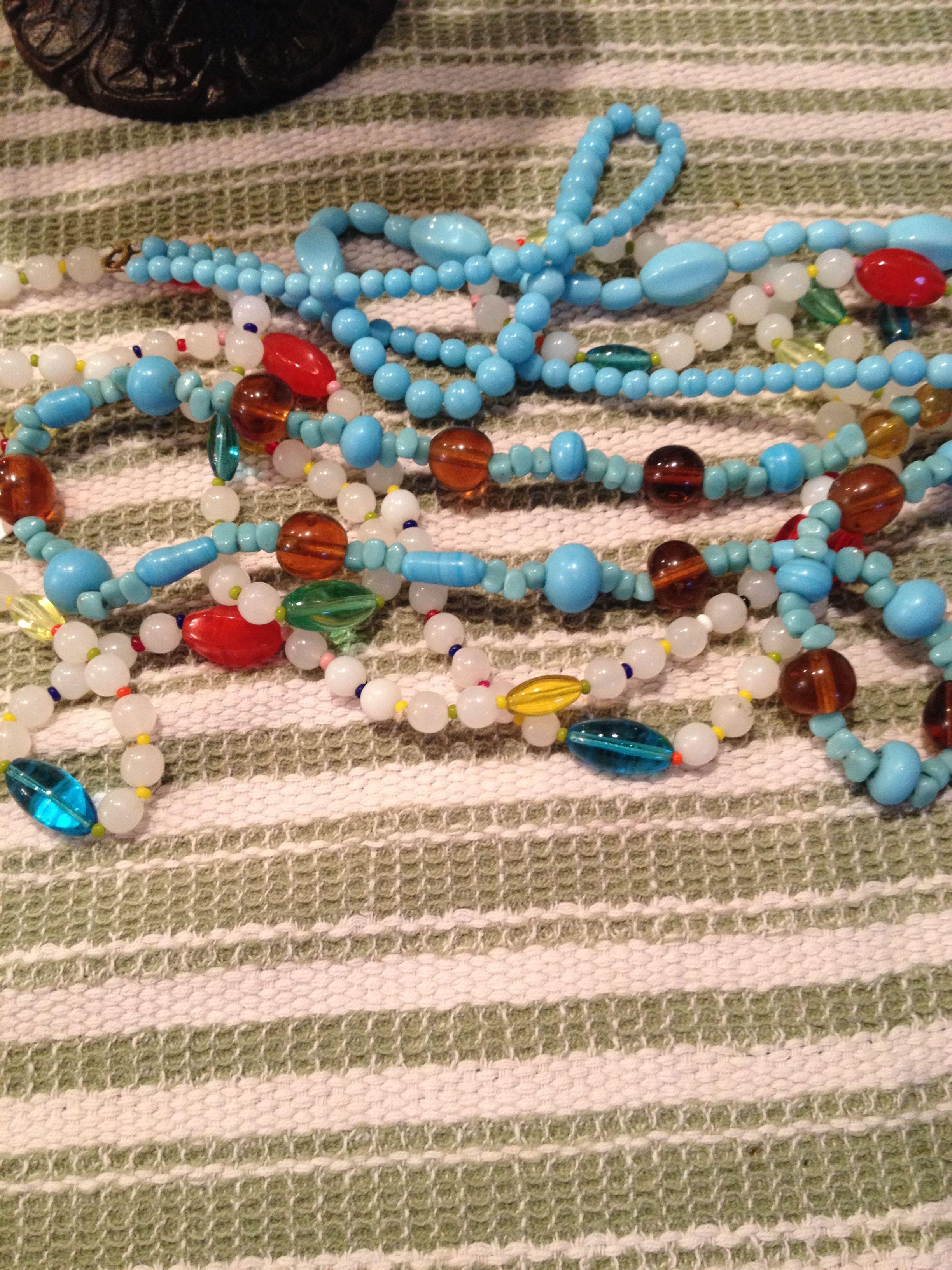 3 vintage necklaces.