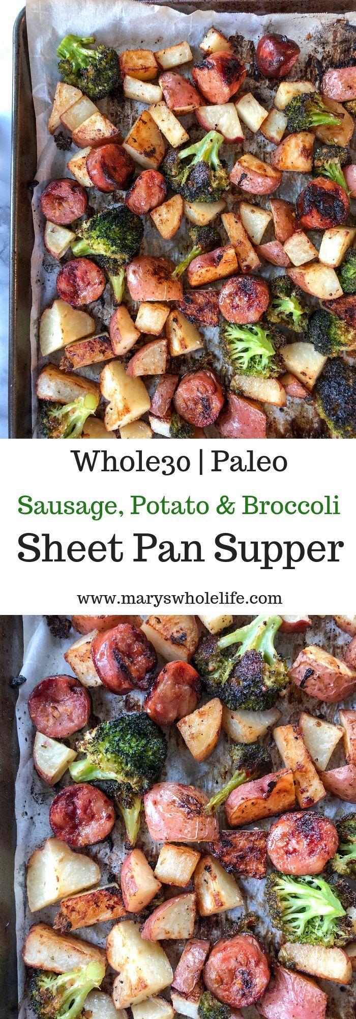 Sausage, Potato & Broccoli Sheet Pan Supper #quickandeasydinnerrecipes