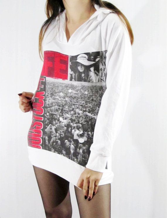Woodstock Music Festival Heavy Metal Thick Soft White by punkalife, $29.99