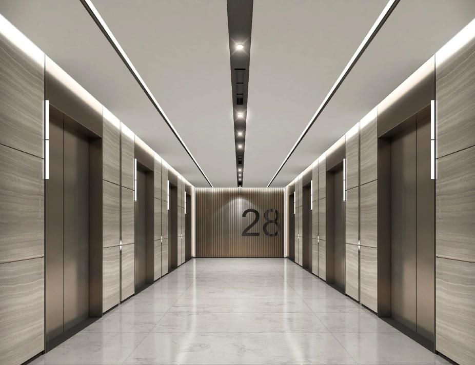 Pin by kaymluk on lift hall pinterest lobbies for Commercial interiors