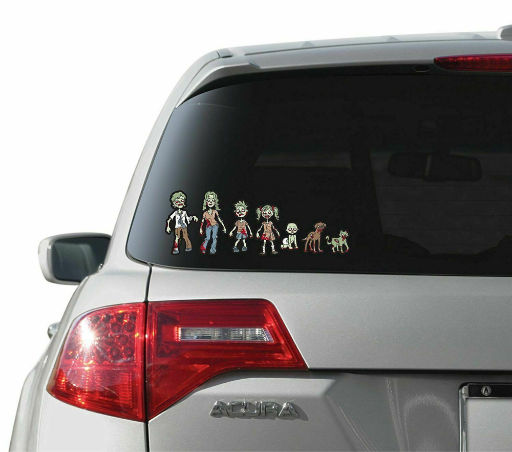 Zombie Family Stickers Compact Collection Kit 12055 Walking Dead Family Stickers Family Car Decals The Walking Dead [ png ]
