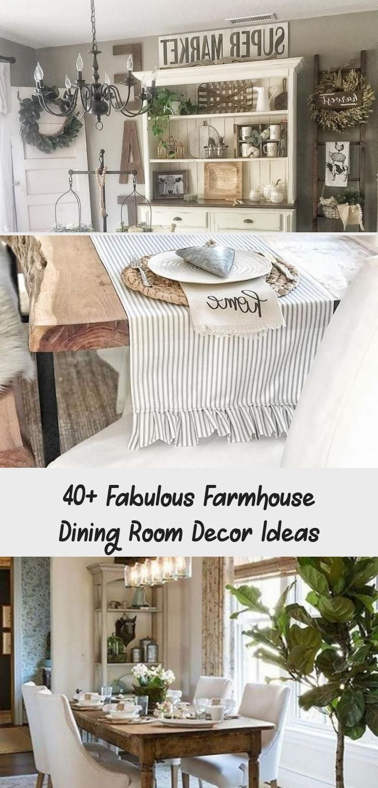 40+ Fabulous Farmhouse Dining Room Decor Ideas - Decor #diningroomdecor