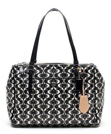 8bebc124f3bd3b Another great find on  zulily! Black   White Peyton Dream C Jordan Double  Zip Carryall Tote by Coach  zulilyfinds