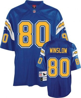 the best attitude c3e3d 04894 Kellen Winslow Blue Reebok NFL Premier 1981 Throwback San ...