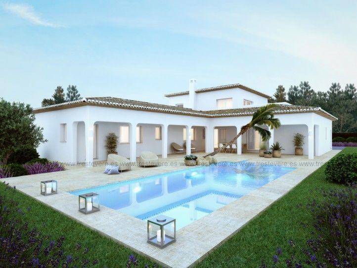 Vivienda ibicenca javea 01 3d arquitectura pinterest for Casas de campo modernas con piscina