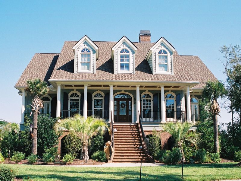rivergate lowcountry home | southern, house and plan front