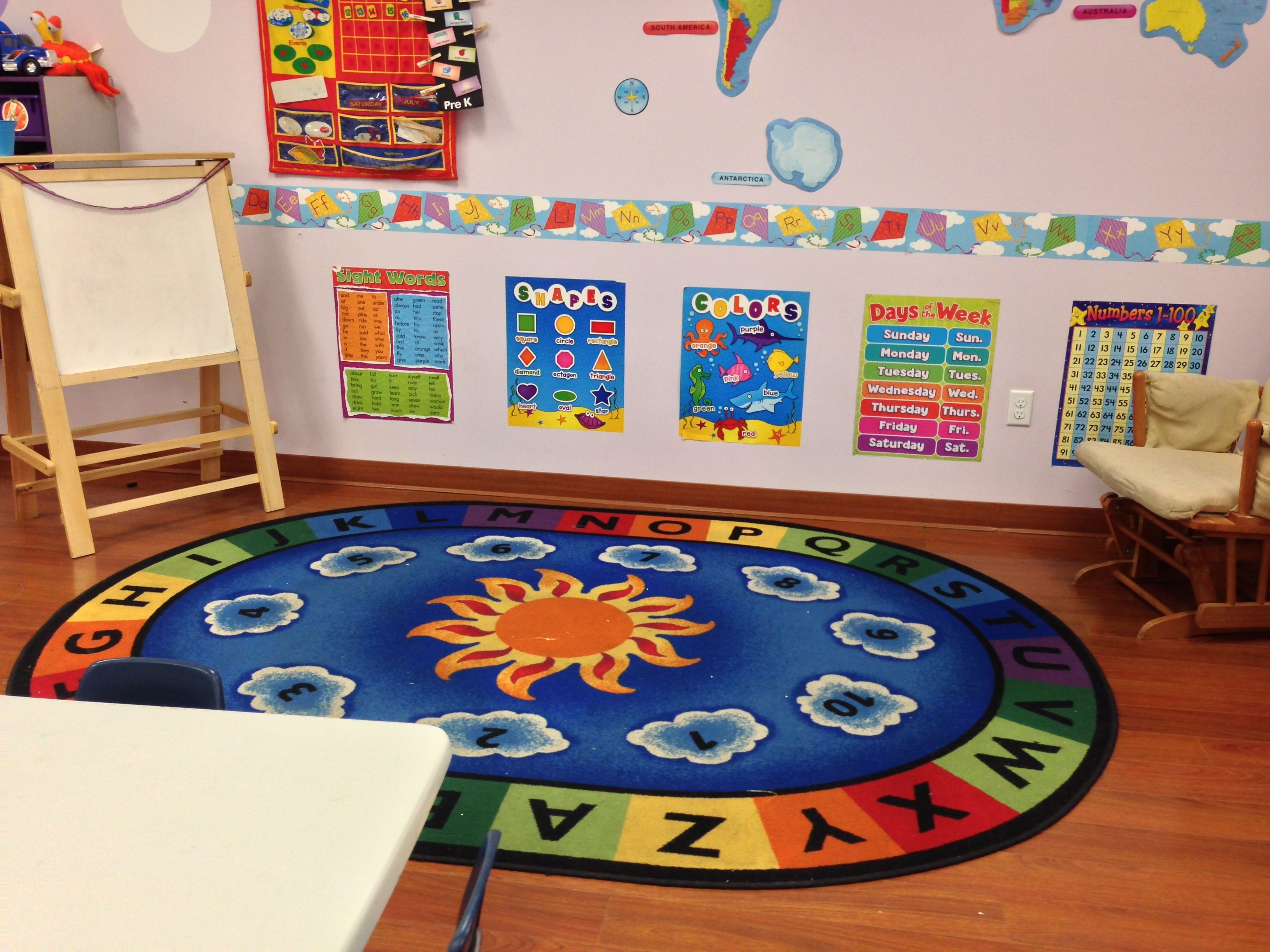 Circle Time Area Love The Rug Daycare Pinterest Circle Time