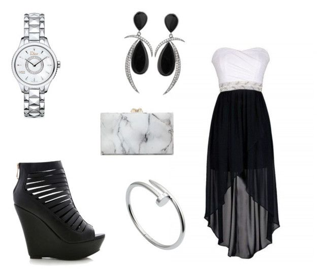 """""""Untitled #75"""" by jaite0990 on Polyvore featuring Christian Dior, Cartier and Charlotte Olympia"""