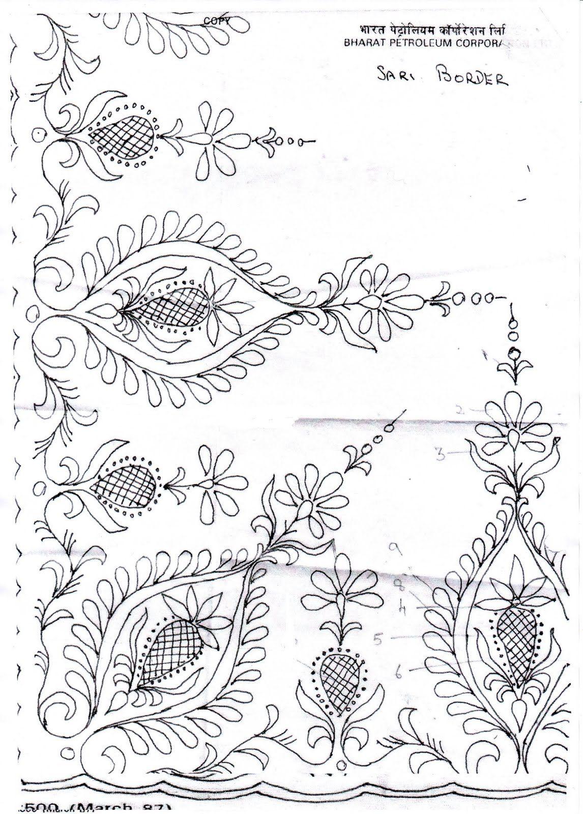 DESIGN FOR CUSHION COVER | bordados | Pinterest | Bordado, Tul y ...