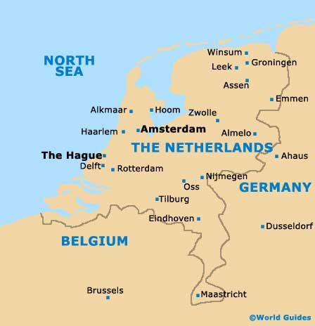 Netherlands Map With Harlaam Reading Literature Pinterest - Where is amsterdam
