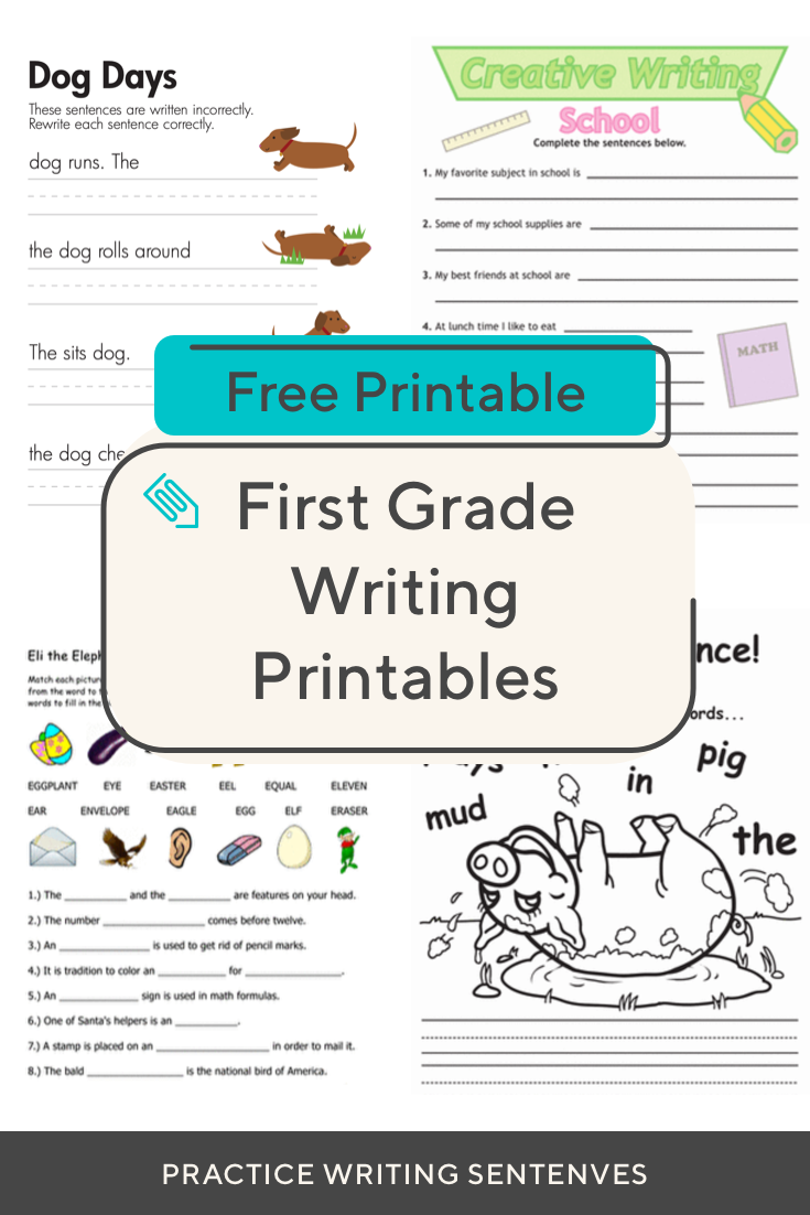 Help Your First Grader Practice Writing With These Fun Printables Downloadnow Clicktole Writing Sentences Worksheets 1st Grade Writing Elementary Activities [ 1102 x 735 Pixel ]