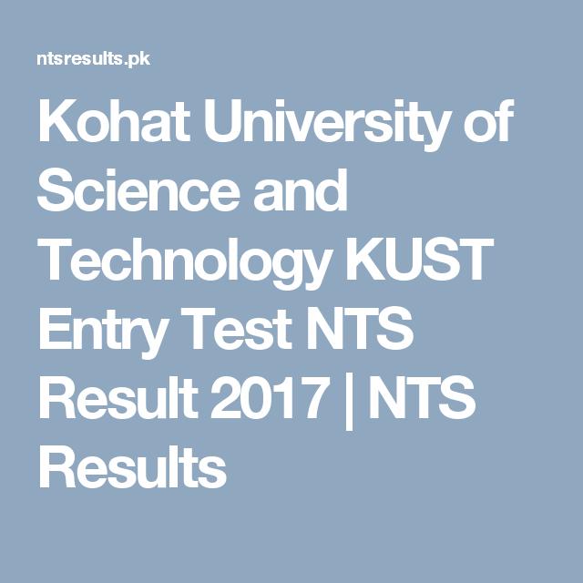 Kust Nts Result 2018