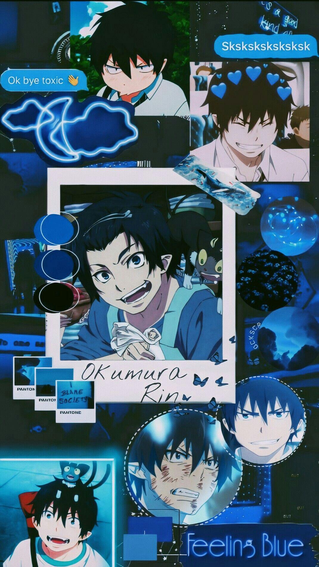 Okumura Rin Wallpaper Blue Anime Blue Exorcist Anime Blue Exorcist Movie