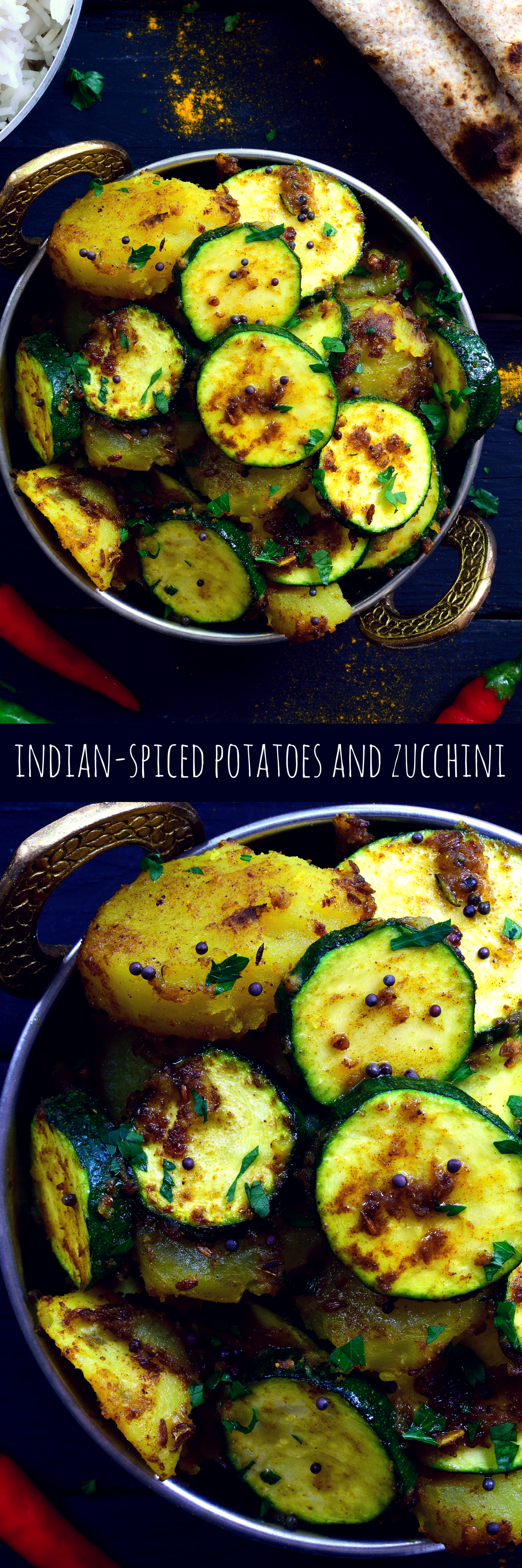 Indian spiced potatoes and zucchini recipe chapati naan and food forumfinder Image collections