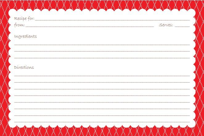 Free Printable Recipe Card Sets  Recipe Cards Card Templates