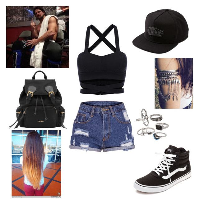 AJ Styles: you wear booty shorts and a crop top by dpclma on Polyvore featuring Vans, Mudd and WWE