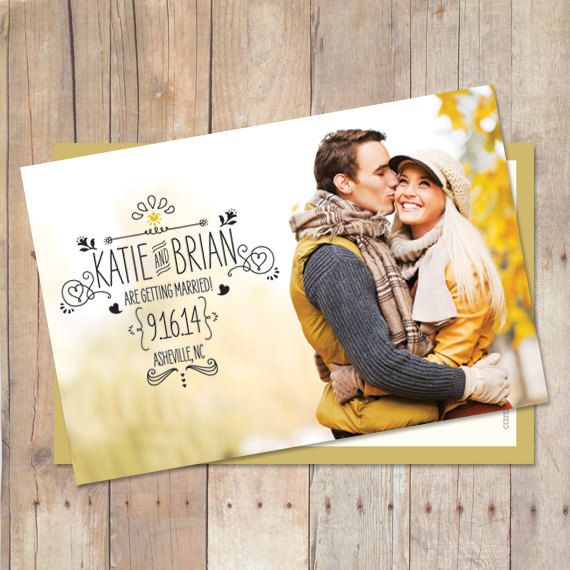 Save The Date Postcard Save The Date Magnet by cardcandydotcom
