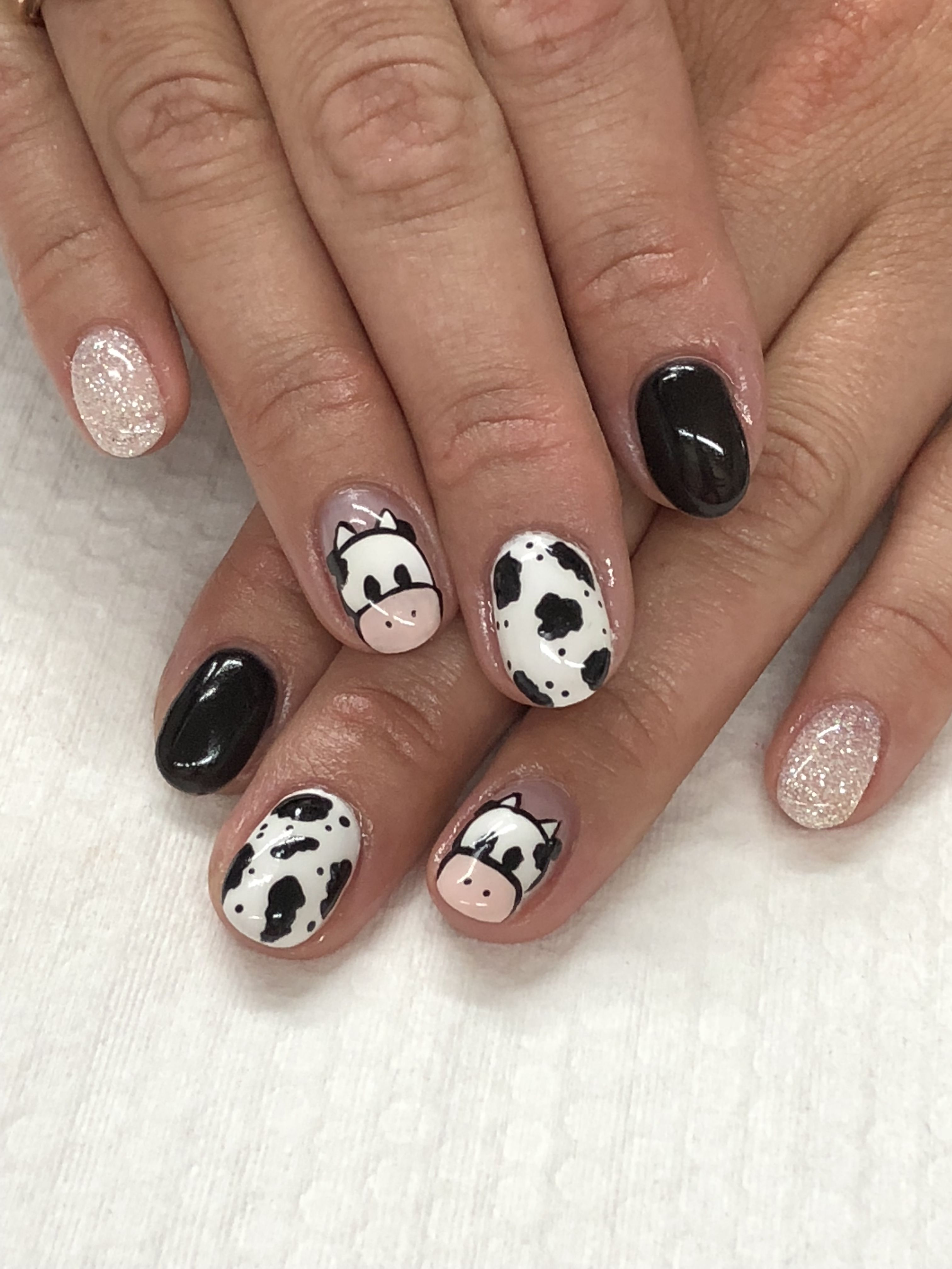 Breakfast on the farm cow nails cow nails country nails