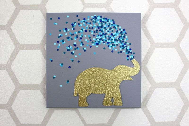How To Decorate A Canvas 30 Minute Elephant