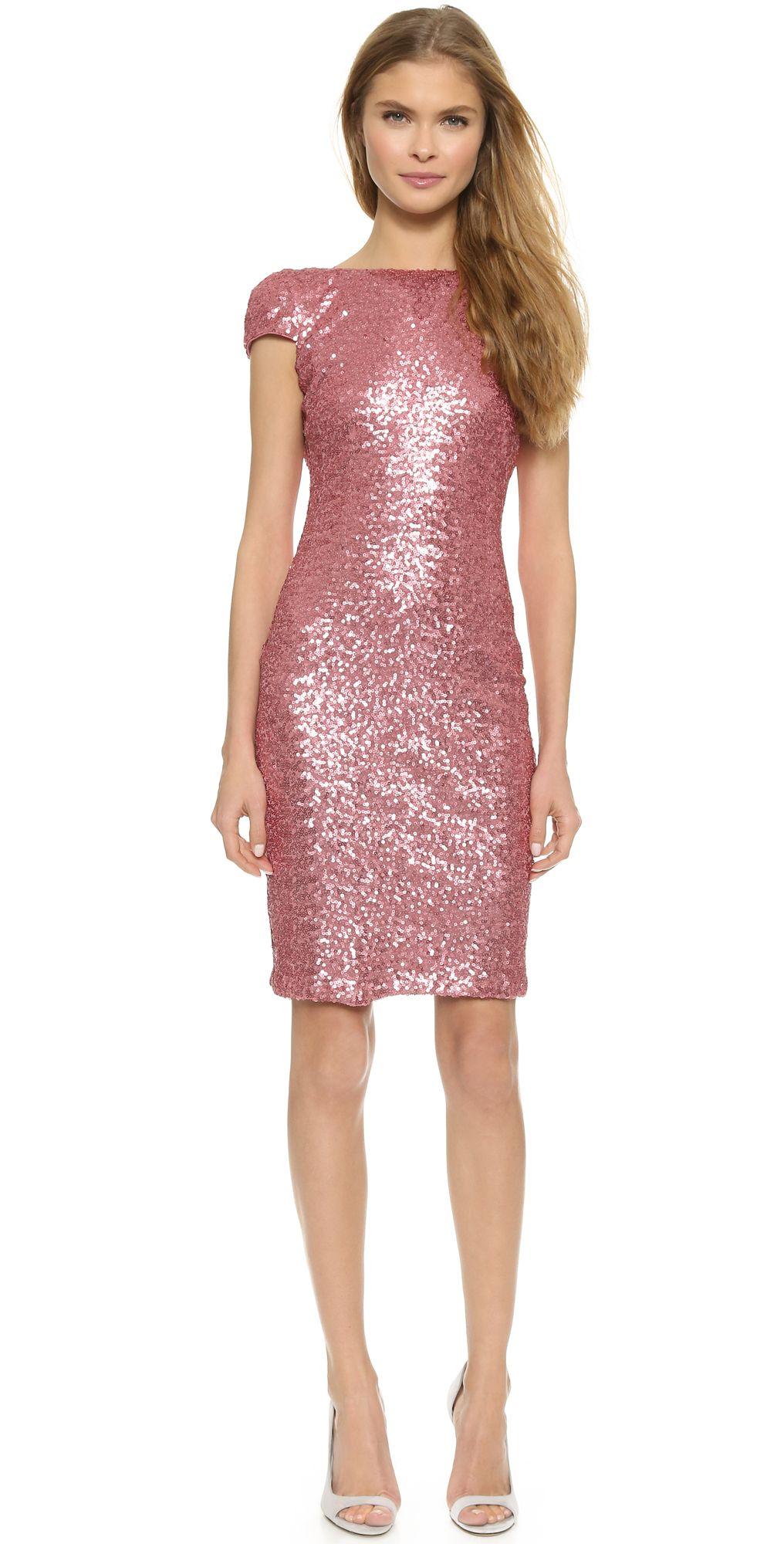 Open Back Sequin Dress | style | Pinterest | Badgley mischka ...