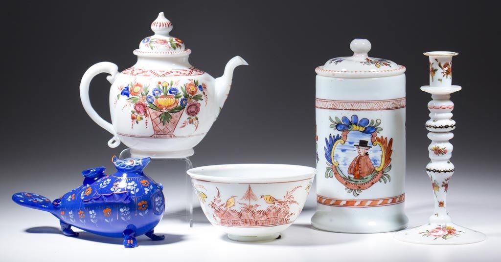 Central European 18th century enameled glass
