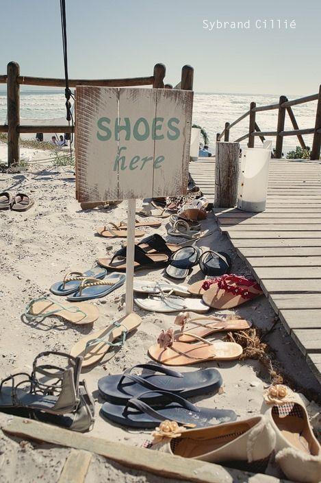 'Shoes Here' beach wedding :)