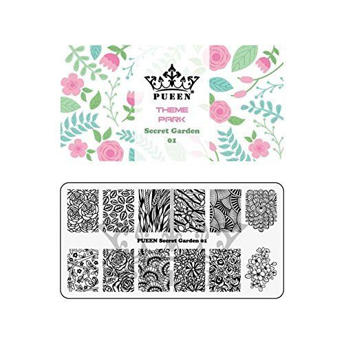 Bmc super cute simple nail vinyl 13pc mixed pattern manicure art sticker bundle super sized
