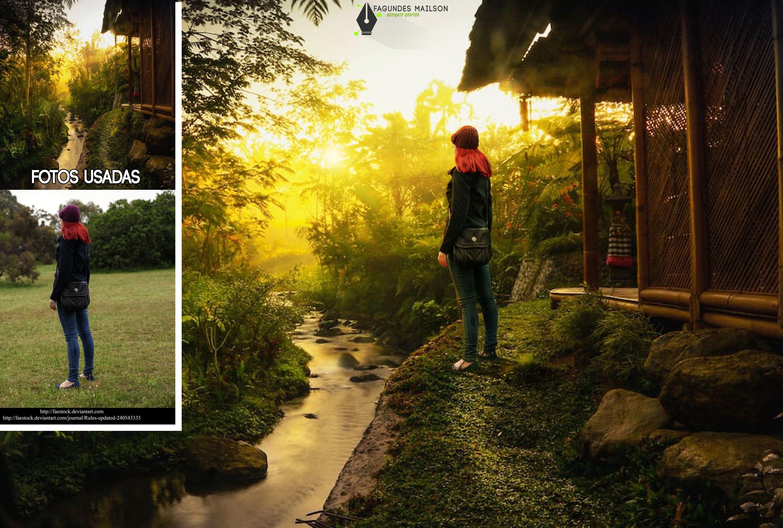 Bali Bali Photomanipulation Art Photoshop Nature Woman