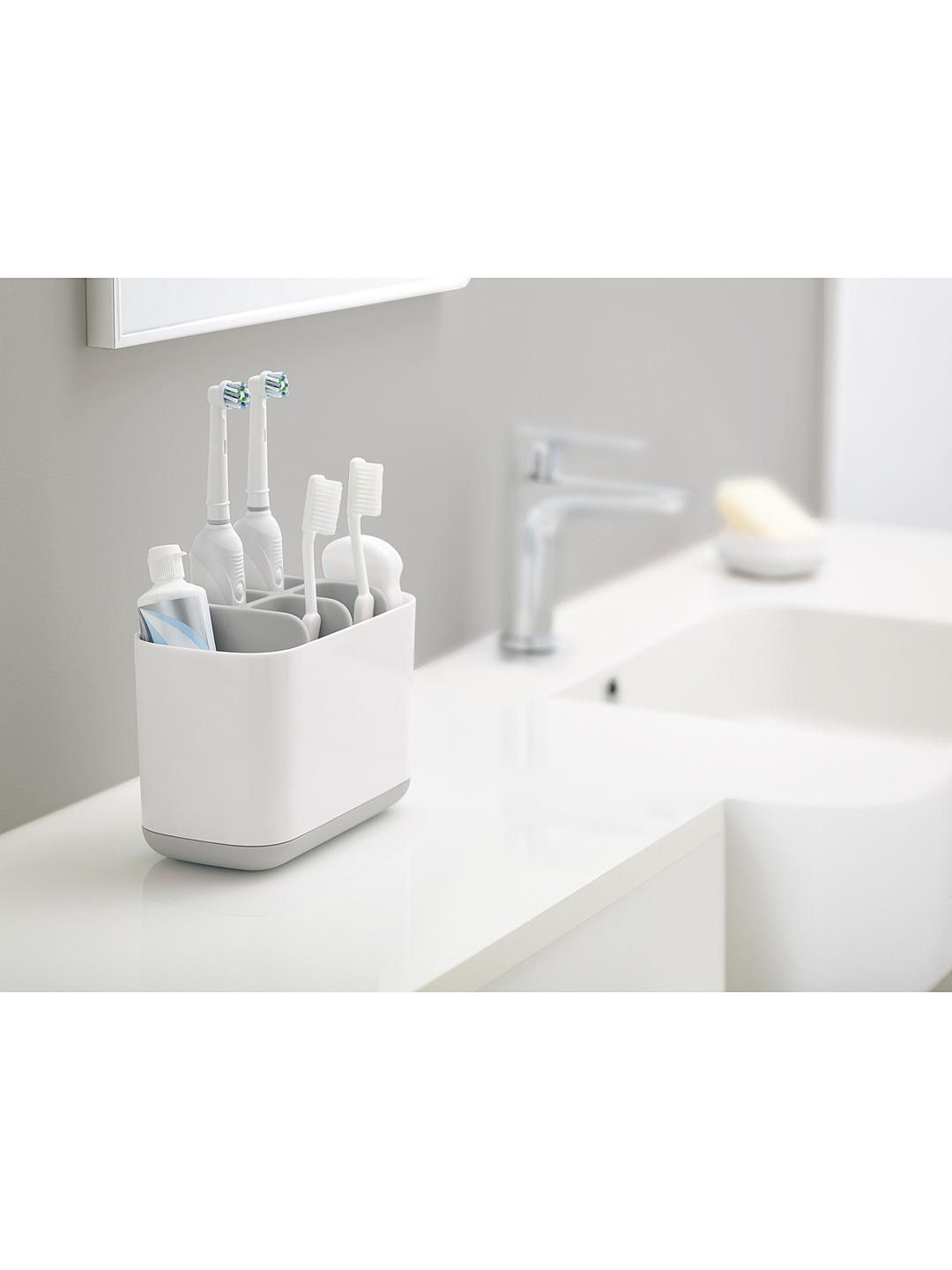 Joseph Joseph Easystore Toothbrush Caddy Large Grey Brushing Teeth Bathroom Accessories Amazing Bathrooms