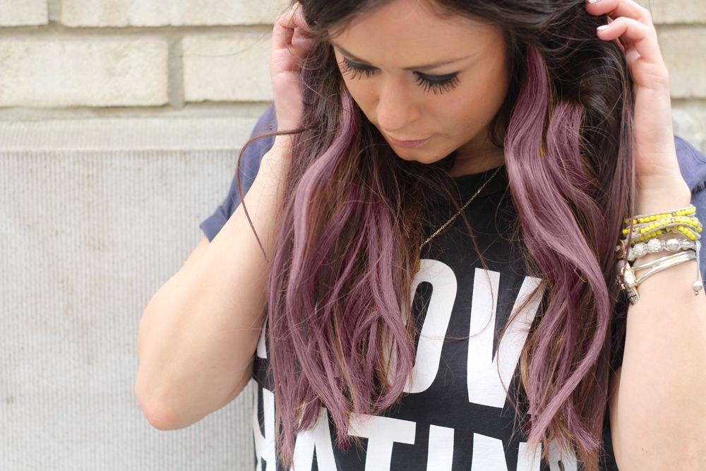 love pink hair chalk