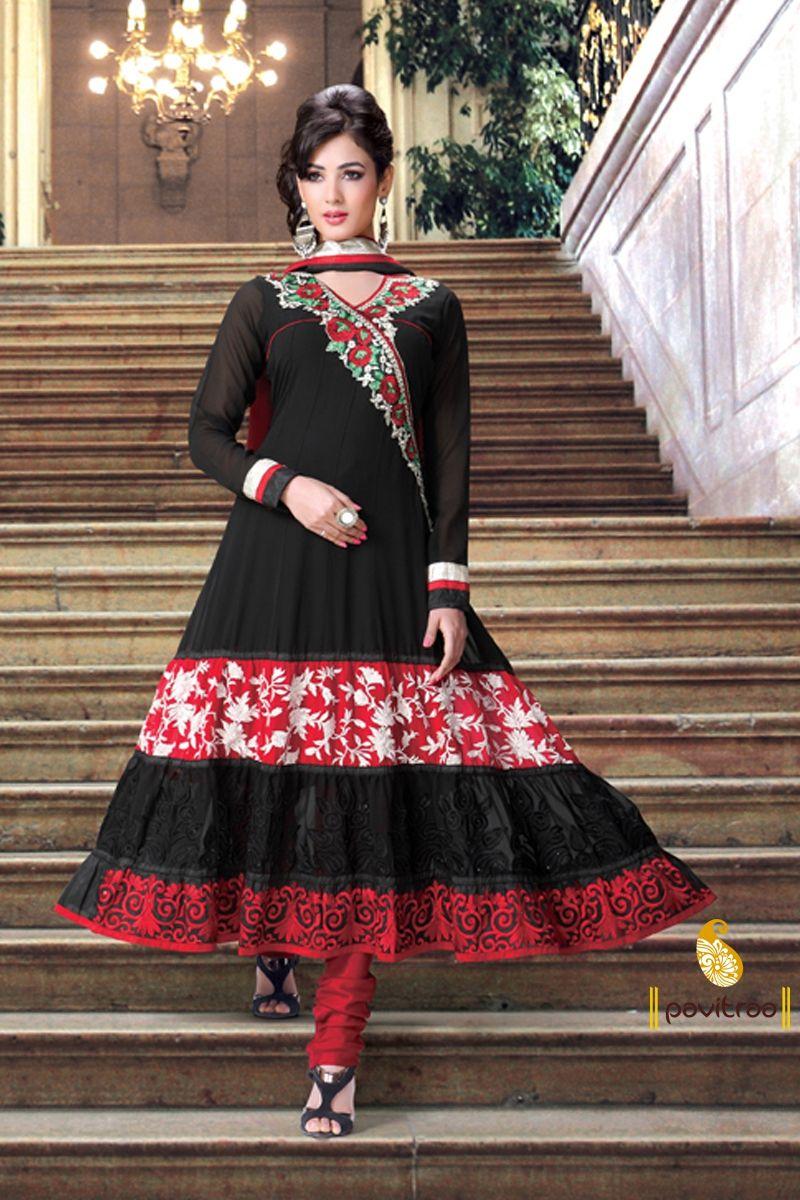 Pavitraa Salwar Kameez, Sarees Dress Materials, Anarkali Suit