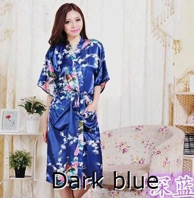 ff2107e005 ... Dressing Gown Flora Silk Pajamas Robe Femme  RB015 Satin Robes for  Brides Wedding Robe Sleepwear Silk Pijama Casual Bathrobe Animal Rayon Long  Nightgown ...