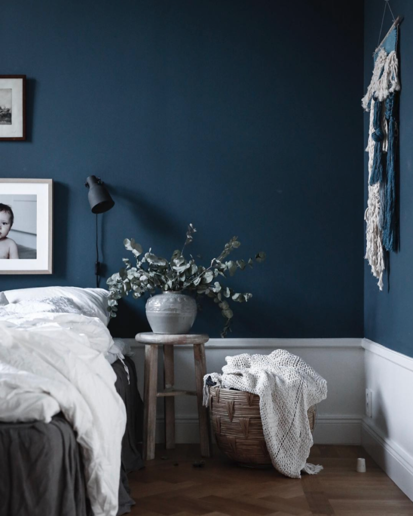 Best Perfectly Dreamy Moody Blue Bedrooms Blue Bedroom Walls 640 x 480