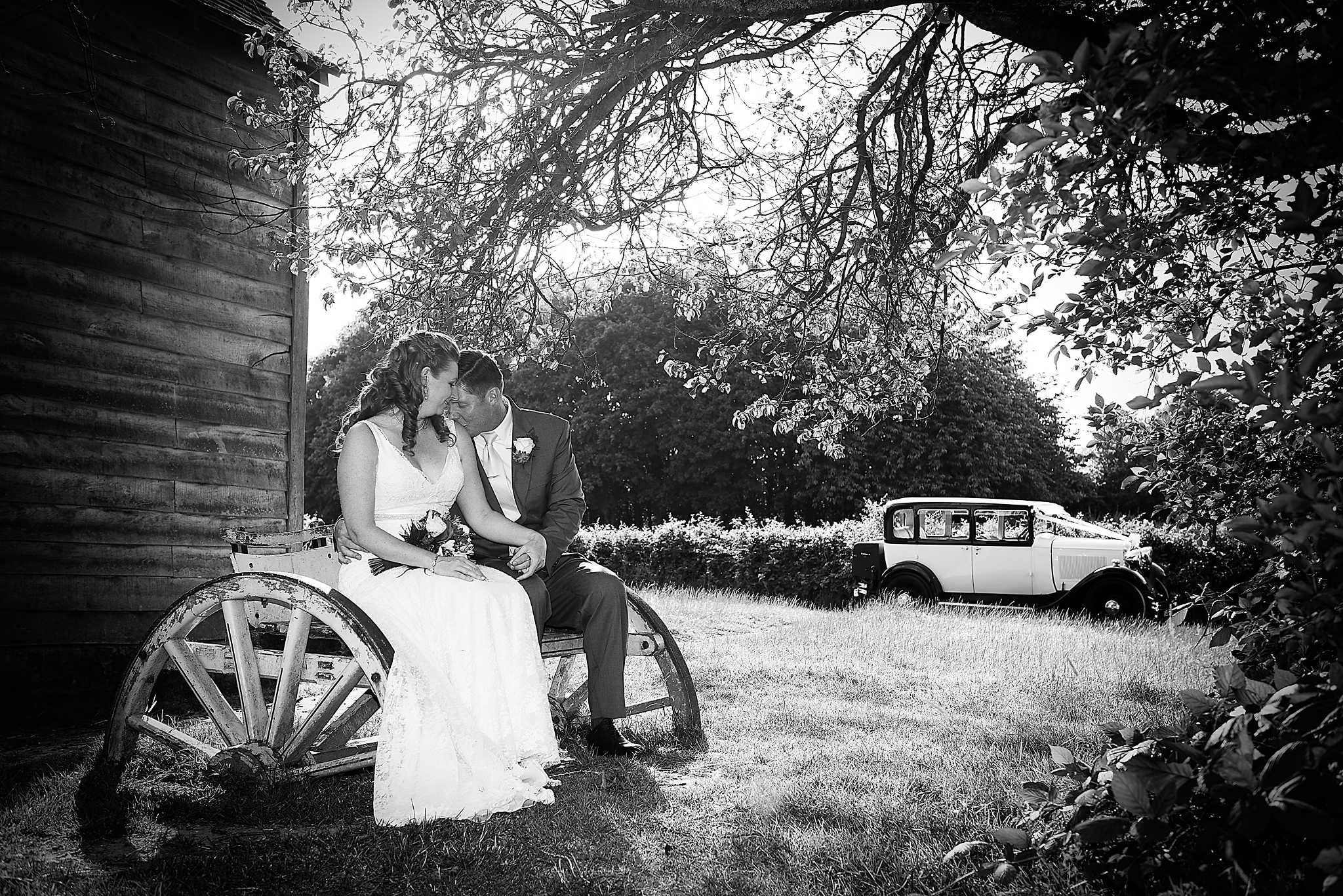 Black And White Traditional Portrait Wedding Car Co Uk In The Background