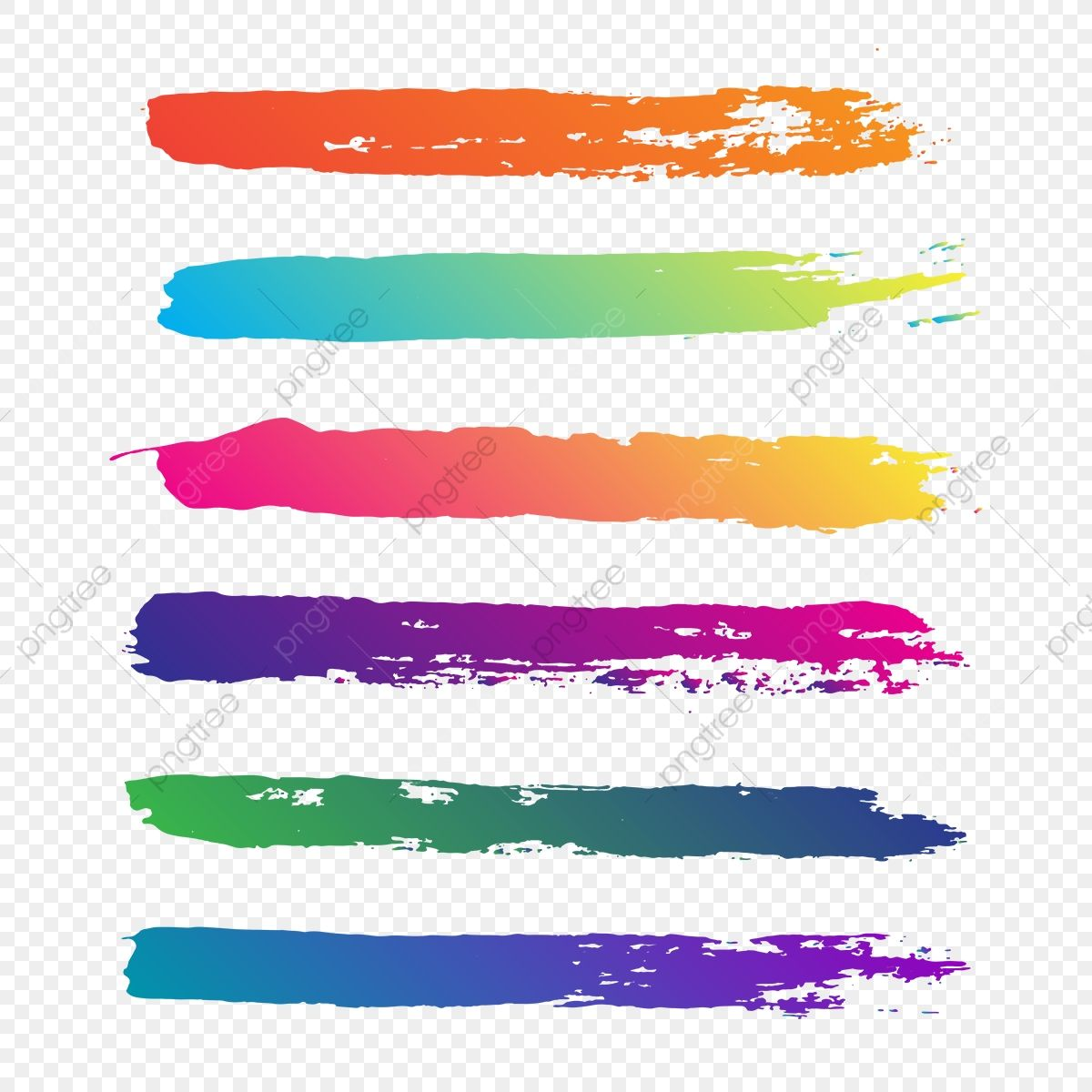 Creative Abstract Colorful Brush Stroke Vector Brush Brush