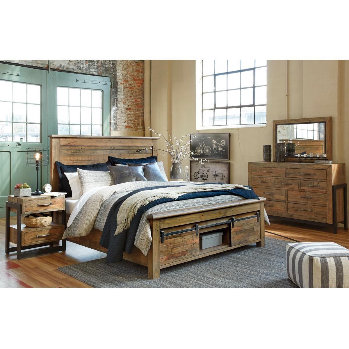 Best Arcadia Lane Sommerford 4 Piece King Bedroom Set In Light Greyish Brown Bedroom Furniture Sets 400 x 300