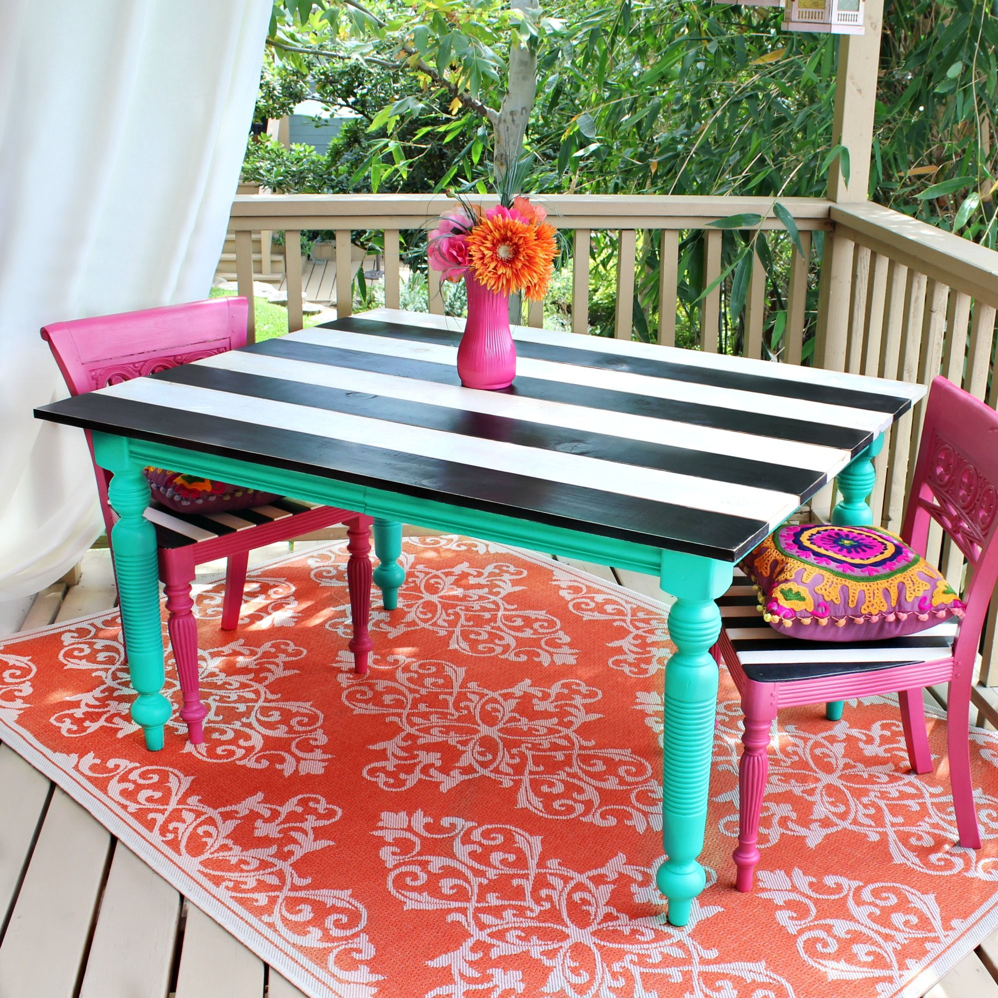 Outdoor Table Makeover With Americana Decor Outdoor Living 640 x 480