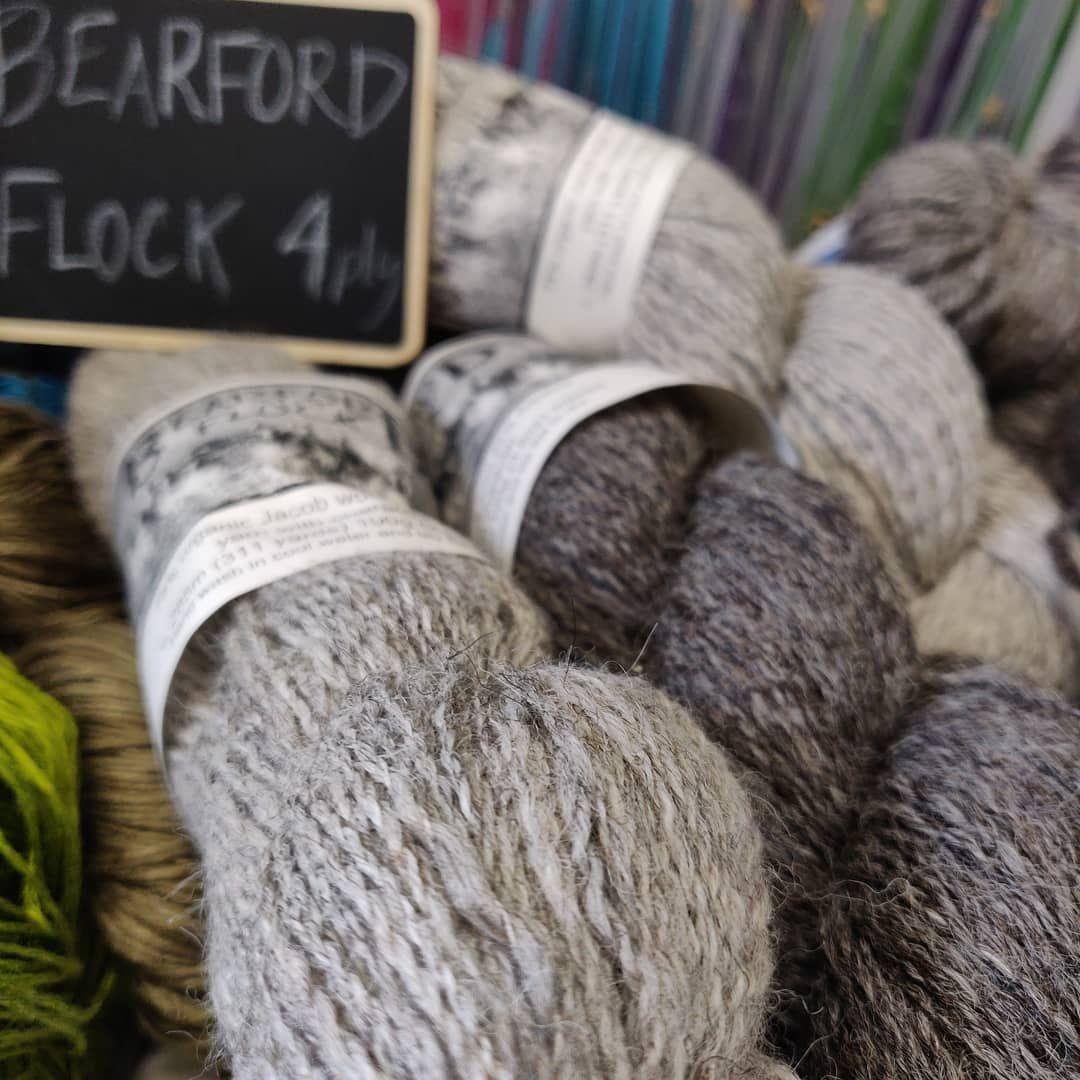 Gorgeous grey natural knitting yarn