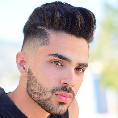 High Fade With Pompadour And Beard Cool Hairstyles For Men Mexican Hairstyles Haircuts For Men