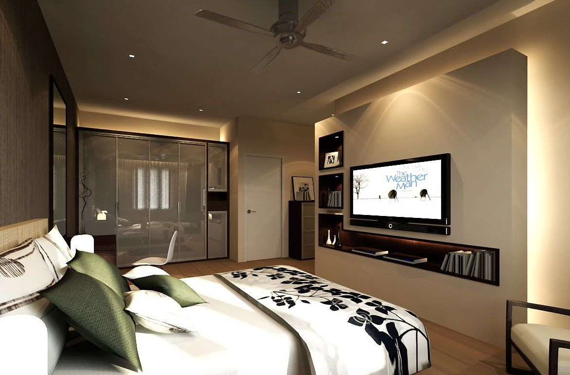 elegant suite room design with modern interior design - Modern Interior Design Bedroom