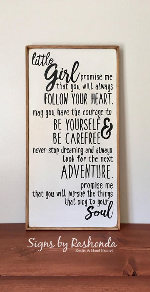Wood Signs For Nursery Signs For Girls Positive Quotes Signs