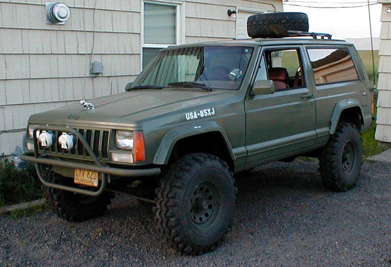 Finally got the Jeep painted - OD Green | jeep xj | Pinterest ...