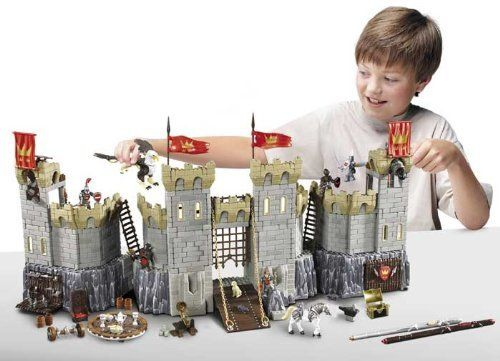 Mega bloks legends of king arthur 96121 battle action castle with lots of accessories plus an - Knights of the round table lego ...