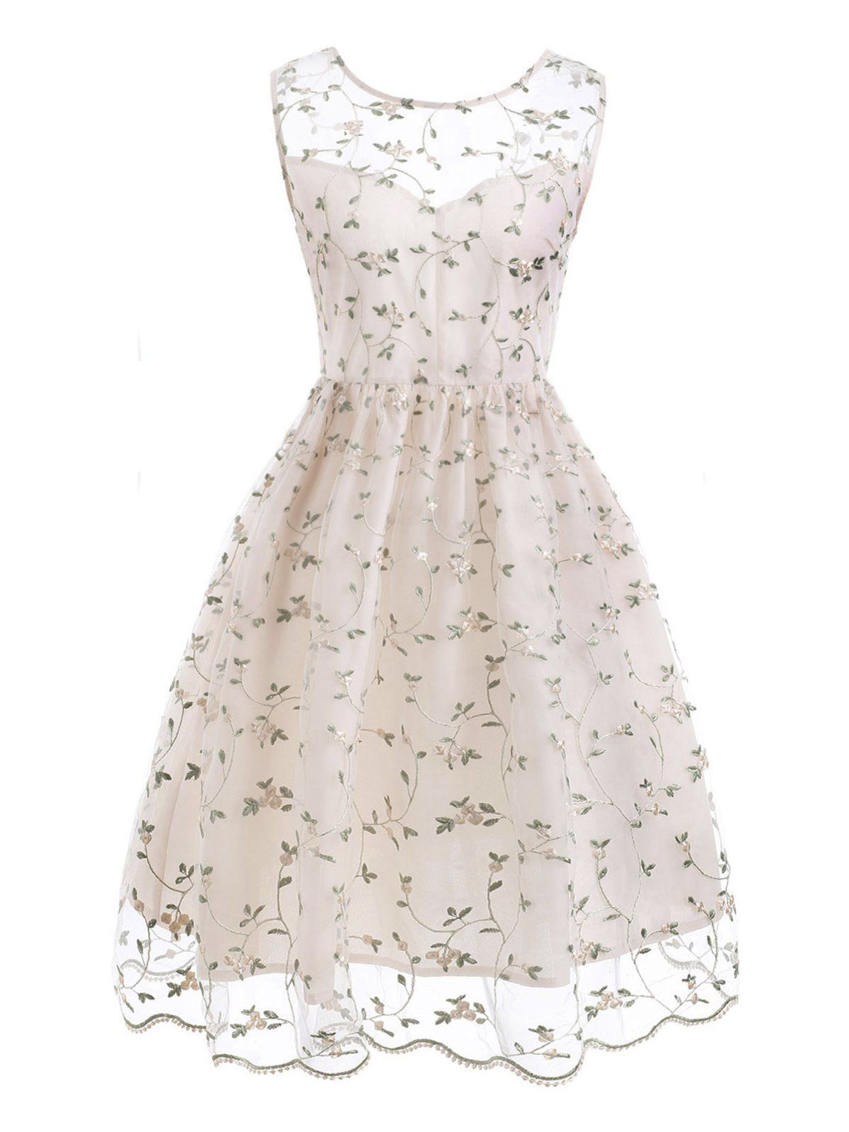 cd06ffc195cb 1950s Floral Embroidery Lace Dress – Retro Stage - Chic Vintage Dresses and  Accessories
