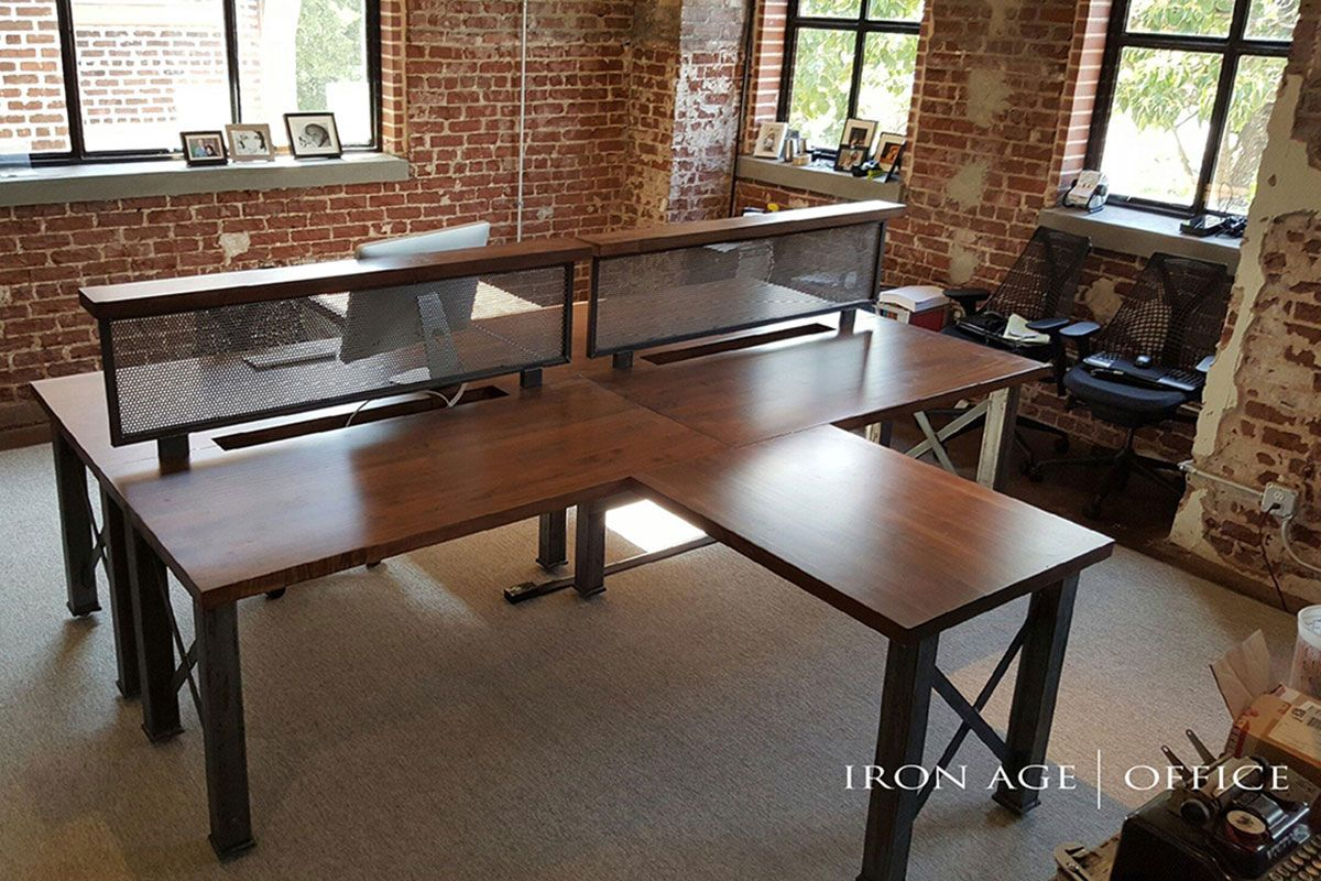 Rustic Office Design Iron Age Bastille Workstation Industrial Office Furniture Modern