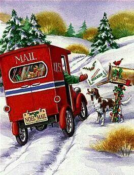 Christmas | Christmas | Pinterest | Christmas mail, Vintage ...