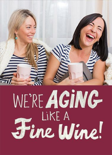 Funny Birthday Card Add Your Photo More Like Were Aging Lets