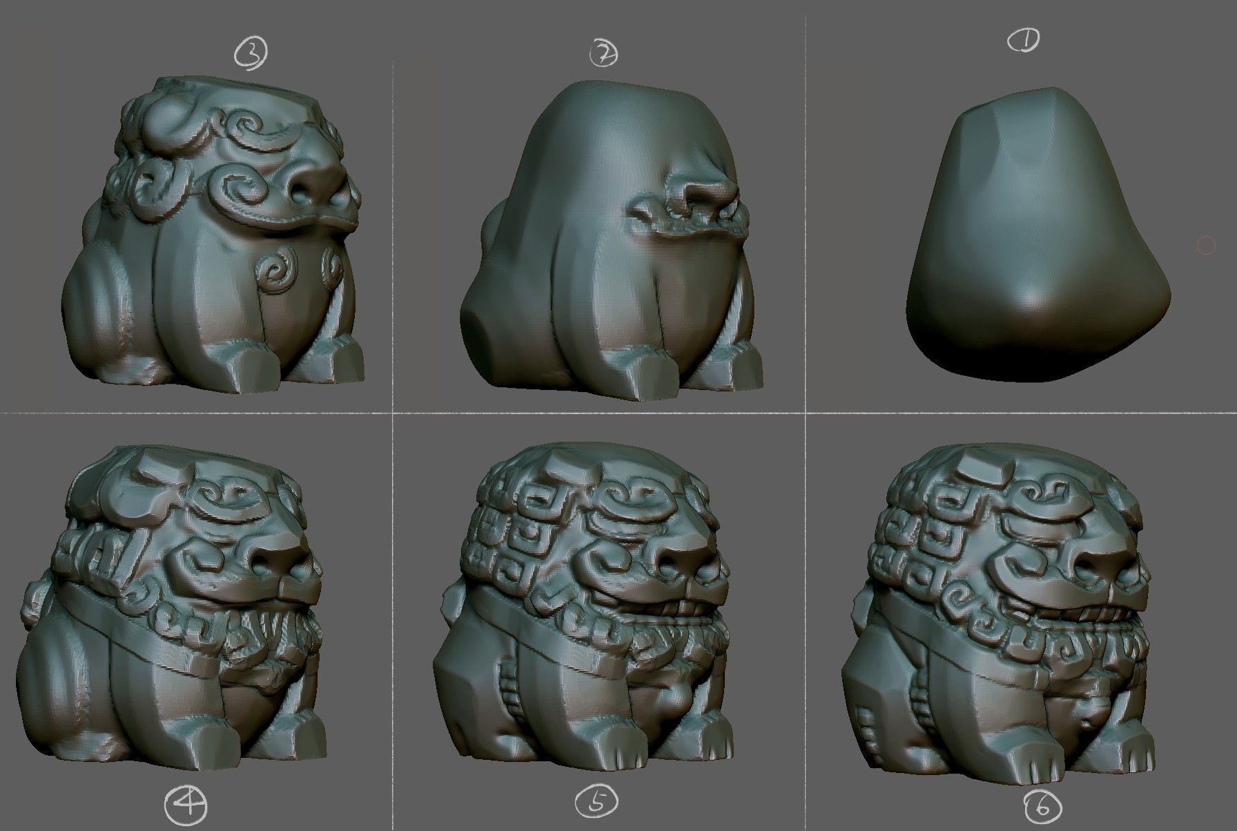 ZBrush sketchbook of Zhelong Xu Page 13 (With images